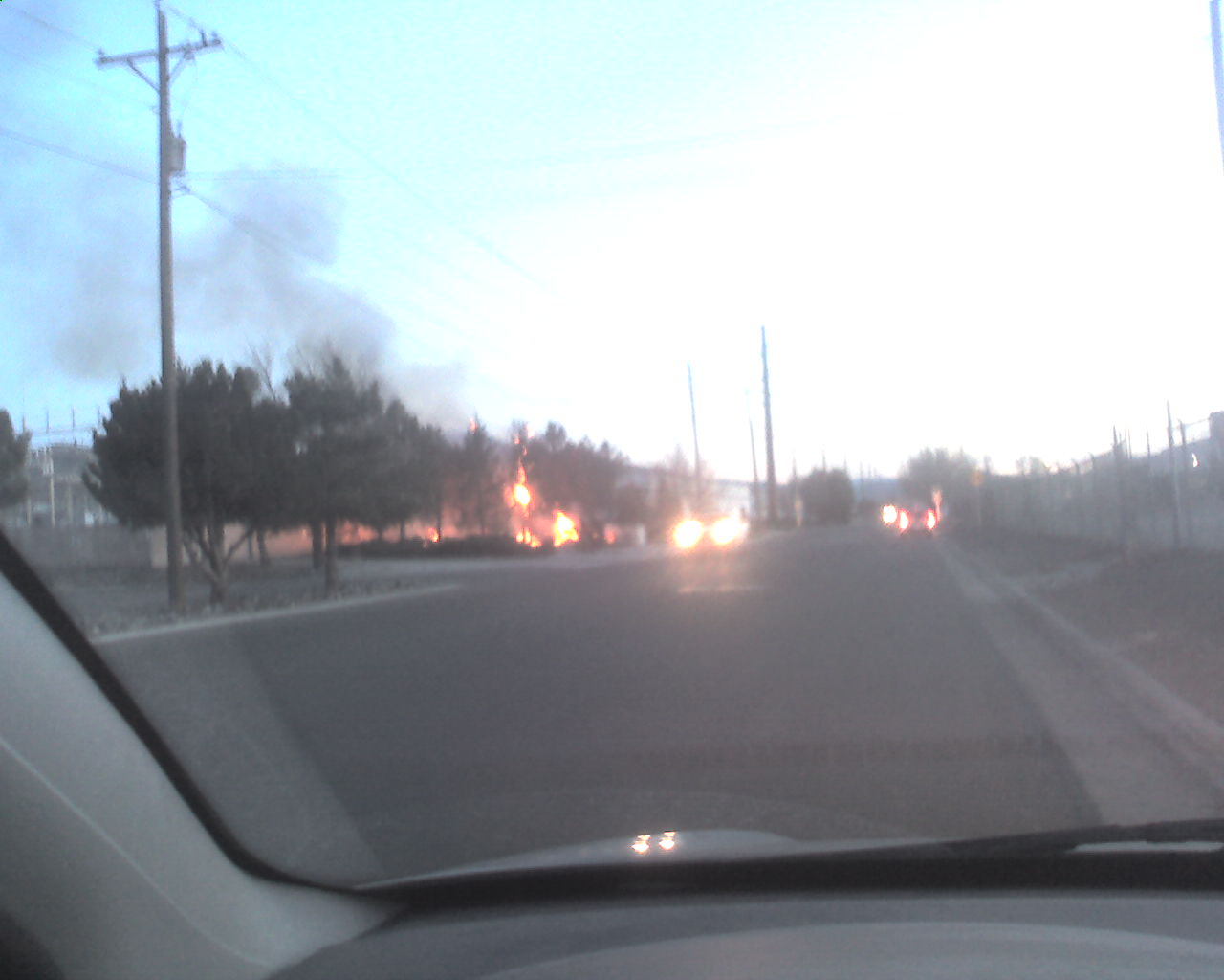 Transformer fire in Reno at the Kleppe and Greg substation.